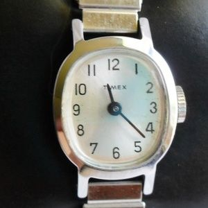 1979 Timex Manual Silver Watch Made in England